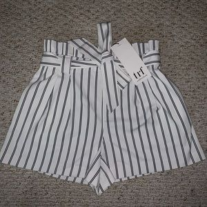 Brand New Zara Stripped Shorts with Belt